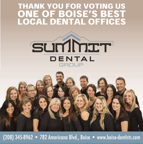 "Summit Dental Group Voted Best Local Dentists Office in Boise Weekly's ""Best of Boise"" Awards!"